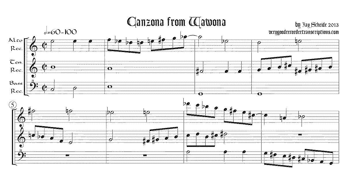 Canzona from Wawona